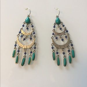 Lucky Brand | Turquoise & Blue Drop Earrings